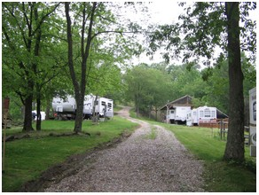 Trailers at Roseland Gay Campground Resort